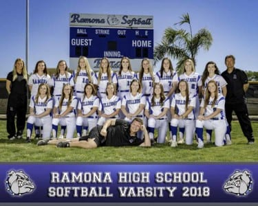 2018 RHS Girls Softball Varsity