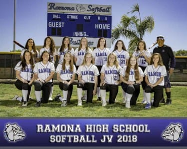 2018 RHS Girls Softball JV