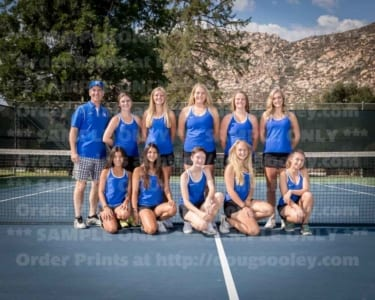 2018 RHS Girls Tennis Varsity