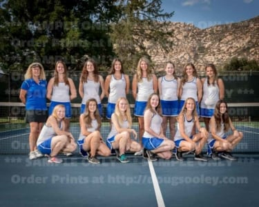 2018 RHS Girls Tennis JV